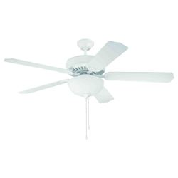 Pro Builder 201 Ceiling Fan Kit Kit in White with 52in. Contractor Standard Bl - 344251