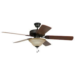 Two Light Bronze Ceiling Fan