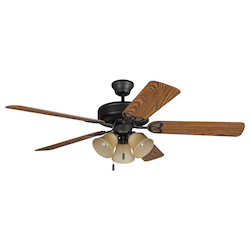 Three Light Bronze Ceiling Fan