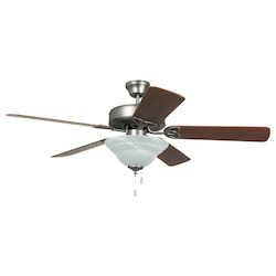 Two Light Nickel Ceiling Fan