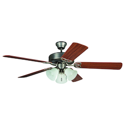 Three Light Nickel Ceiling Fan