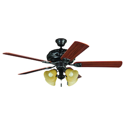 Four Light Bronze Ceiling Fan