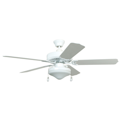 Two Light White Ceiling Fan