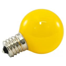 Premium Grade Led Lamp Intermediate Globe, Intermediate Base, Frosted Yellow Gla