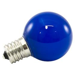 Premium Grade Led Lamp Intermediate Globe, Intermediate Base, Frosted Blue Glass