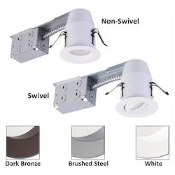 3-Inch E-Pro White Led Recessed Down Light And Swivel Remodel