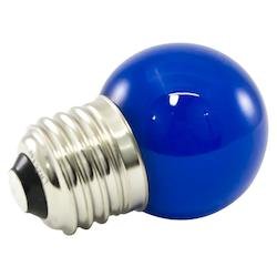 Premium Grade Led Lamp Intermediate Globe, Standard Medium Base, Frosted Blue Gl