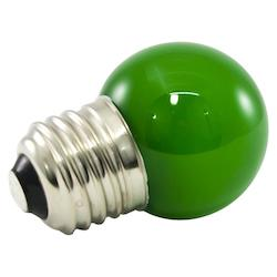 Premium Grade Led Lamp Intermediate Globe, Standard Medium Base, Frosted Green G