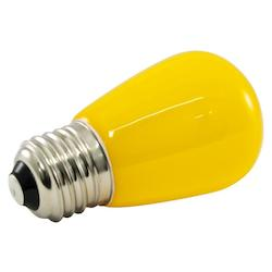 Premium Grade Led Lamp S14 Shape,Standard Medium Base, Frosted Yellow Glass, Wet