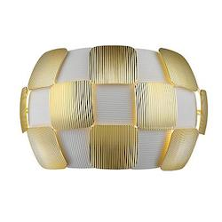 Layers Two Light Wall Sconce With Gold Finish