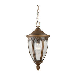 One Light Rustic Sienna Outdoor Pendant - Forte 1828-01-41