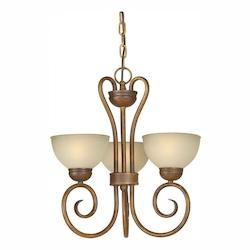 Rust Up Chandelier - Forte 2466-03-41