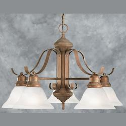 Brown Down Chandelier - Forte 2553-05-09