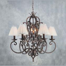 Rust Up Chandelier - Forte 7246-09-21