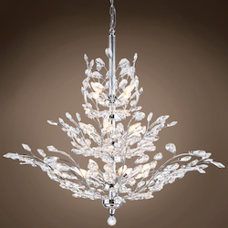 13 Light Crystal Chandelier Light in Chrome Finish with European Crystals - 371569