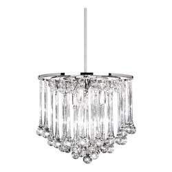 8Lt Chandelier - Glass Droplets
