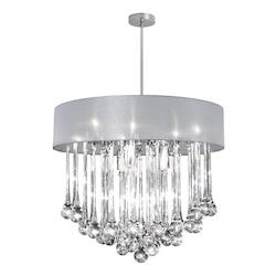 8Lt Chandelier - Glass Droplets W/814 Sh