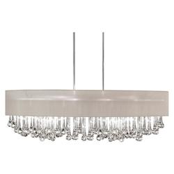 8 Light Chandelier With Glass Droplets And Shade