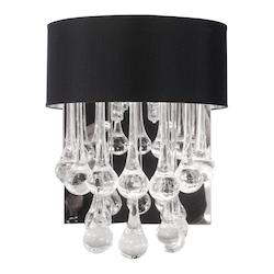 2 Light Wall Sconce With Glass Droplets
