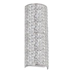 3 Light Vertical Sconce With Polished Chrome Finish