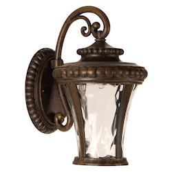 1 Light Outdoor Wall Sconce in Peruvian Bronze Finish - 371945