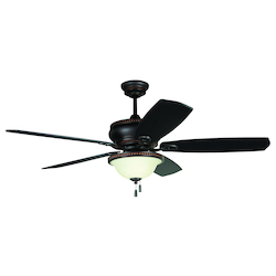 Ceiling Fan with Light Kit with Aged Bronze Finish - 371949