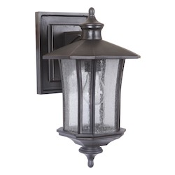 1 Light Outdoor Wall Sconce with Oiled Bronze Finish - 371953