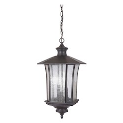 3 Light Pendant with Oiled Bronze Finish - 371955