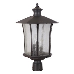 3 Light Outdoor Post Lantern with Oiled Bronze Finish - 371956