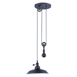 1 Light Pulley Pendant with Metal Shade - 371961