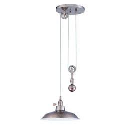 1 Light Pulley Pendant with Metal Shade - 371963