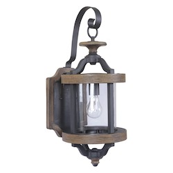 1 Light Outdoor Wall Sconce with Black Finish - 371978