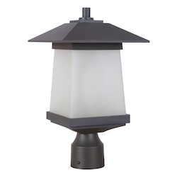 1 Light Outdoor Post Lantern with Textured Black Finish - 371992