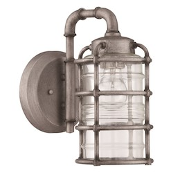 1 Light Wall Mount in Aged Galvantized Finish - 371993