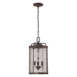 3 Light Pendant with Matte Black Gilded Finish - 371999