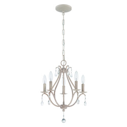 5 Light Mini Chandelier in Antique Linen Finish - 372006