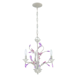 3 Light Mini Chandelier in Antique Linen Finish - 372008
