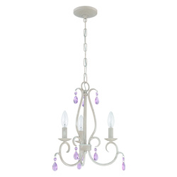 3 Light Mini Chandelier in Antique Linen Finish - 372009