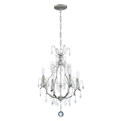 4 Light Mini Chandelier in Athenian Obol Finish - 372013