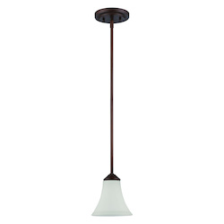 1 Light Mini Pendant in Oiled Bronze Finish - 372018