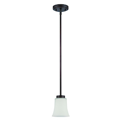 1 Light Mini Pendant in Aged Bronze Finish - 372029
