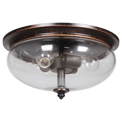 3 Light Flush Mount in Aged Bronze Finish - 372070