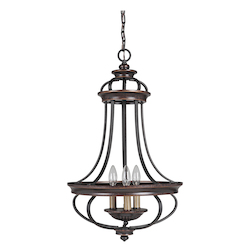 3 Light Foyer in Aged Bronze Finish - 372072