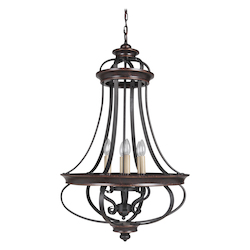 6 Light Foyer in Aged Bronze Finish - 372073
