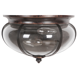 2 Light Wall Sconce in Aged Bronze Textured Black - 372076