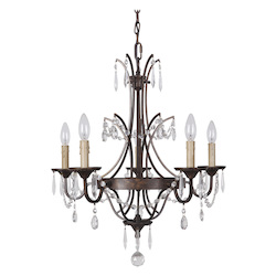 5 Light Chandelier in Peruvian Bronze Finish - 372077