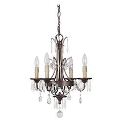 4 Light Chandelier in Peruvian Bronze Finish - 372078