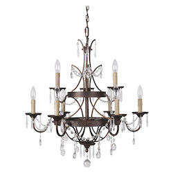 9 Light Chandelier in Peruvian Bronze Finish - 372079