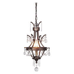 1 Light Mini Pendant in Peruvian Bronze Finish - 372081