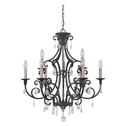 9 Light Chandelier in Matte Black Finish - 372084